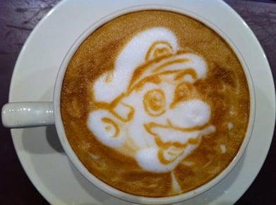 best-latte-art-mario
